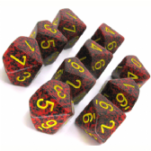 Red & Black 'Mercury' Speckled D10 Ten Sided Dice Set